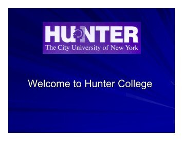 How to Register (PDF) - Hunter College - CUNY