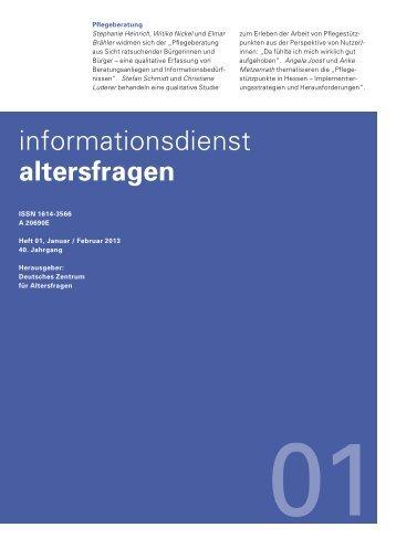 Heft 01/2013 - Deutsches Zentrum für Altersfragen