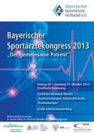 Bayerischer Sportärztekongress 2013 - DGSP