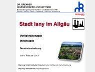 Verkehrskonzept - Büro Brenner - Präsentation ... - in Isny im Allgäu