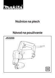Nožnice na plech Makita JS3200