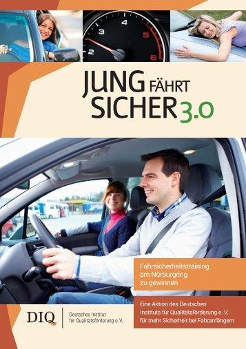 DIQ-Verkehrssicherheitsaktion 2013: Jung fährt sicher 3.0