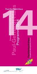 Programm 2014 als Druckversion (PDF) - Paul-Gerhardt-Haus, Ev ...