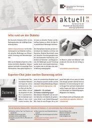 KOSA aktuell 04 2013 - Kassenärztliche Vereinigung Nordrhein
