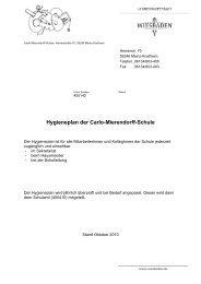 Hygieneplan der Carlo-Mierendorff-Schule