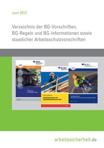 Das BGVR- und BGI-Verzeichnis - Übersicht im PDF