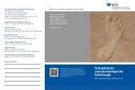 Orthopädische und traumatologische Fußchirurgie