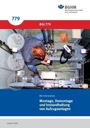 Montage, Demontage und Instandhaltung von Aufzugsanlagen