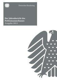 Der Jahresbericht des Petitionsausschusses Ausgabe 2013