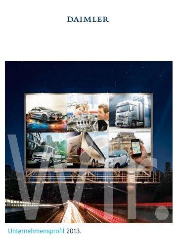 Daimler Unternehmensprofil 2013