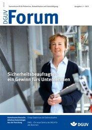 Ausgabe 4/13 - DGUV Forum