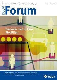 Gesunde und sichere Mobilität - DGUV Forum