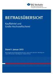 Beitragsübersicht Kauffahrtei und Große Hochseefischerei ab 1 ...