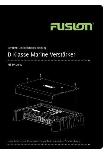 D-Klasse Marine-Verstärker - FUSION Electronics