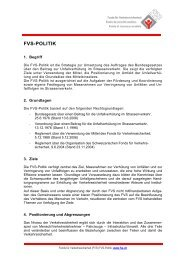 FVS-Politik 2014 - Fonds für Verkehrssicherheit FVS
