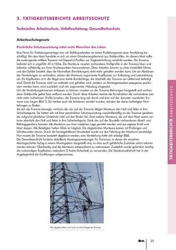 Tätigkeitsberichte technischer Arbeitsschutz - Gewerbeaufsicht