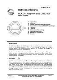 DN 80 - 125 ohne Antrieb - Hagenbucher