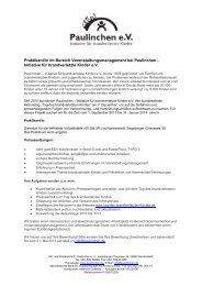 Paulinchen e.V. Initiative für brandverletzte Kinder - Norderstedt