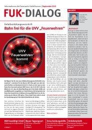 """Bahn frei für die UVV """"Feuerwehren"""" - HFUK Nord"""