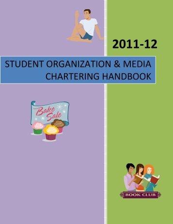 Student Organization & Media Chartering Handbook (PDF)
