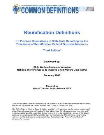 Reunification Definitions