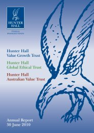 Annual Report 30 June 2010 - Hunter Hall Investment Management