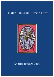 VGT - Hunter Hall Investment Management
