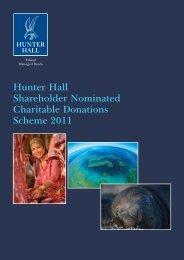 Hunter Hall Shareholder Nominated Charitable Donations Scheme ...