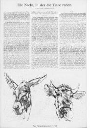 in der die Tiere reden - Neue Zürcher Zeitung