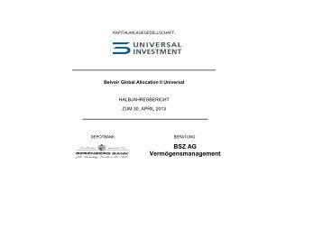 BSZ AG Vermögensmanagement - stockselection