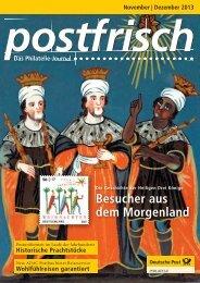 November   Dezember 2013 - Deutsche Post - Philatelie