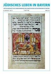 jüdisches leben in bayern - Landesverband der Israelitischen ...