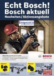 Bosch Neuheiten und Aktionsangebote 3/2013 - Zimmermann AG ...