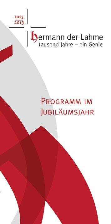 Programm im Jubiläumsjahr - Gemeinde Ebersbach-Musbach