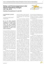 Abschluss-Pressekonferenz des Dialog- und ... - Rottenburg-Stuttgart