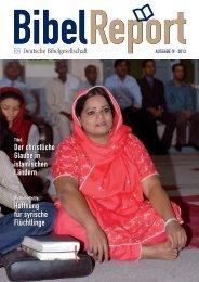 den aktuellen BibelReport direkt lesen. - Deutsche Bibelgesellschaft