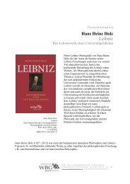 Neuerscheinungen Philosophie Herbst 2013 - WBG-Verlagsgruppe