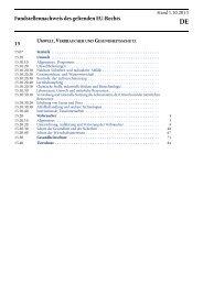 umwelt, verbraucher und gesundheitsschutz - EUR-Lex