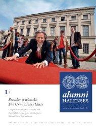alumni halenses 1/2013 - Martin-Luther-Universität Halle-Wittenberg