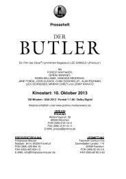Der Butler - Presseheft - Babylon Kino