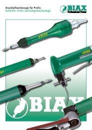 Druckluftwerkzeuge für Profis: Schleifer, Feiler und ... - Biax