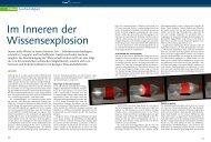 Im Inneren der Wissensexplosion - Collegium Helveticum - ETH Zürich