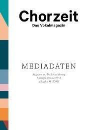 Chorzeit Mediadaten 9/2013 - Deutscher Chorverband
