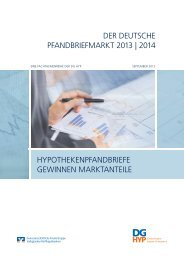 DER DEUTSCHE PFANDBRIEFMARKT 2013 | 2014 ... - DG Hyp