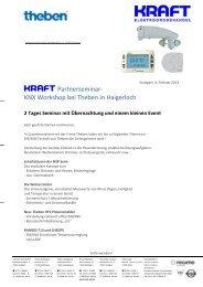 KRAFT Partnerseminar- KNX Workshop bei Theben in Haigerloch