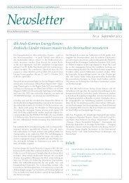 Ghorfa Newsletter 09/2013
