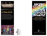 2012 Summer Theatre Youth Camp - Huntington University