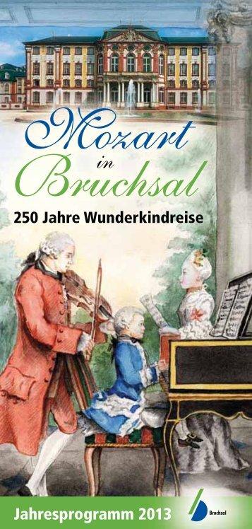 """Broschüre """"Mozart in Bruchsal"""""""