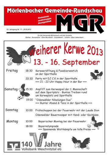 Mörlenbacher Gemeinde-Rundschau - gemeinde-rundschau.de