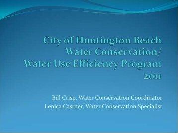 Water Use Efficiency Program 2011/2012 - City of Huntington Beach